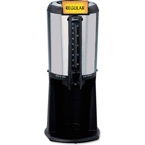 Hormel Thermal Beverage Dispenser, Gravity, 2.5 Liter, Stainless Steel/Black by