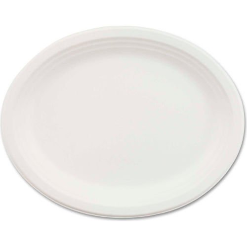 """Chinet HUHVESPER, Classic Paper Platters, 9 3/4"""" x 12 1/2"""", White, 500/Carton by"""