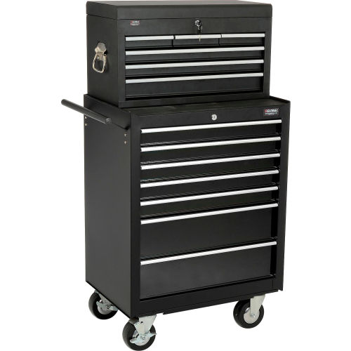 "Global 27"" 7-Drawer Roller Tool Cabinet W/ Ball Bearing Slides 27"" Top Tool Chest Combo by"