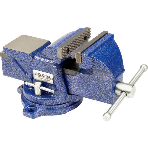 "Global Industrial 4"" Jaw Width 2-1/4"" Throat Depth General Purpose Bench Vise W/ Swivel Base by"
