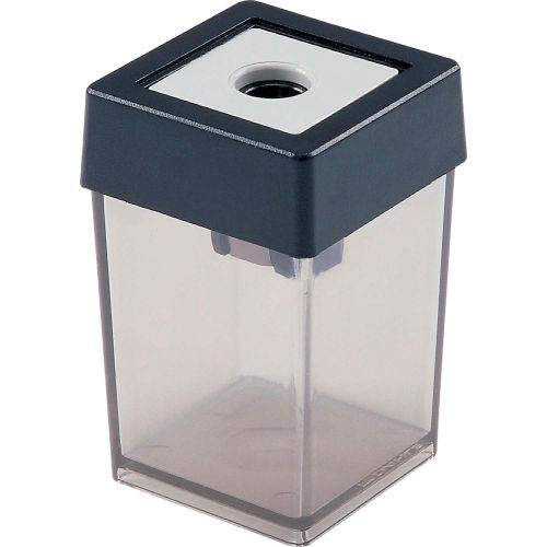 Dahle 53461 Single Canister Pencil Sharpener Gray Package Count 10 by