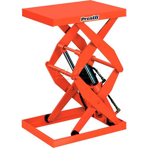 PrestoLifts Power Double Scissor Lift Table DXS48-15 Foot Control 1500 Lb by