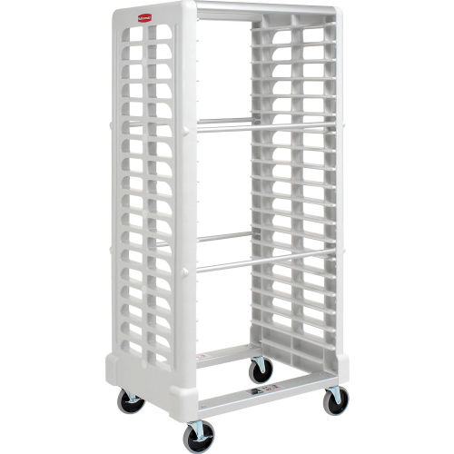 Rubbermaid 3319 Side-Load White Plastic Tray Truck by