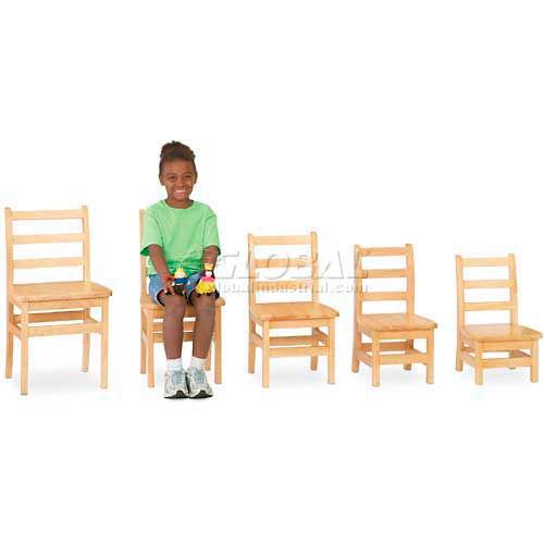 "Jonti-Craft KYDZ Ladderback Chair Set of 2 18"" Height by"