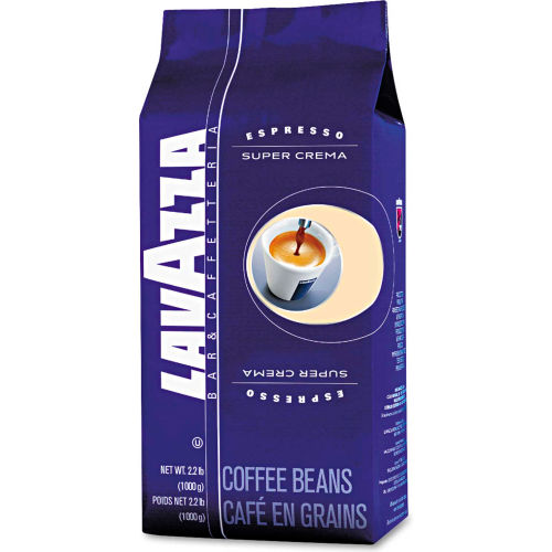 Lavazza Super Crema Espresso Coffee, Regular, 35.2 oz. Bag, Vacuum Packed With One Way Valve by