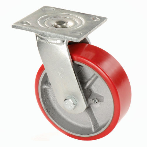 1/¼ Thick 5 Diameter Set of 4 Nexel Polyurethane Wheel Swivel Casters