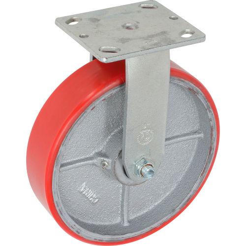 6 Heavy-Duty Swivel Plate Caster 1200 Lb Capacity Polyurethane Wheel