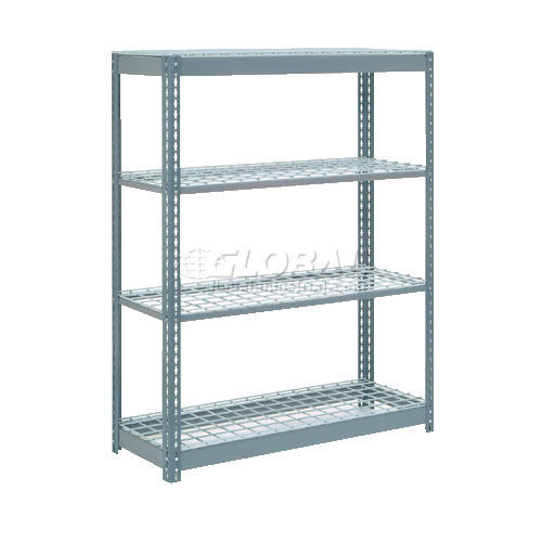 heavy duty shelving 48 w x 18 d x 72 h with 4 shelves wire. Black Bedroom Furniture Sets. Home Design Ideas