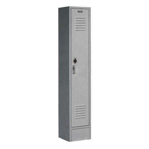 Lockers Global Lockers Paramount 174 Locker Single Tier 15x18x72 1 Door Assembled Gray 652172gy Globalindustrial Com