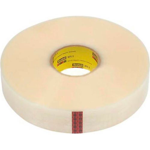 "3M Scotch 371 Machine Length Carton Sealing Tape 2"" x 1000 Yds. 1.8 Mil Clear Skid Lot Package Count 288 by"