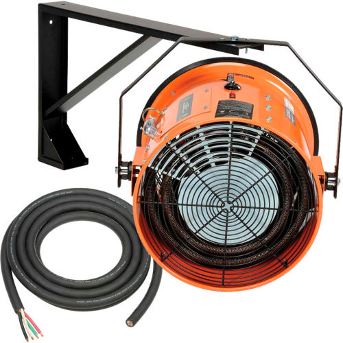 Salamander Heater – Electric Wall Mount Fan Forced 208V 15 KW 3 Phase 41.7 Amps by