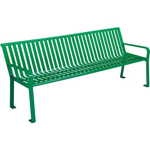 Wondrous Benches Picnic Tables Benches Steel 8 Ft Outdoor Ocoug Best Dining Table And Chair Ideas Images Ocougorg