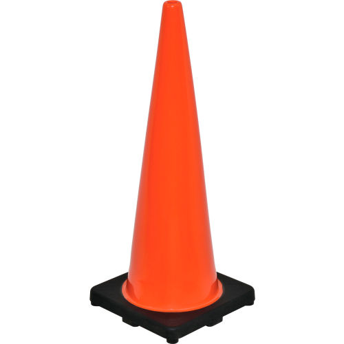 "36"" Traffic Cone, Non-Reflective, Black Base, 10 lbs by"