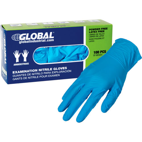 Latex Gloves Large Box 100 Disposable Powdered Examination // Protective
