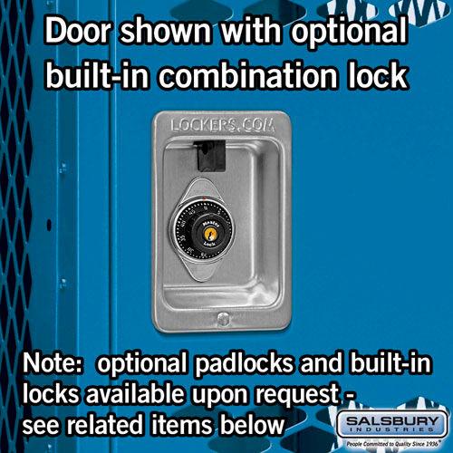 "Salsbury Vented Metal Locker Single Tier 1 Wide 6/' High 18/"" Deep Blue 71168BL-U"