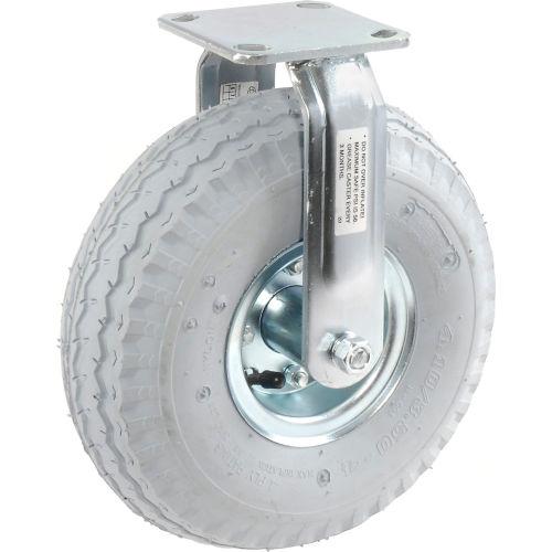 "Rigid Plate Caster 10"" Full Pneumatic Wheel 330 Lb. Capacity  by"