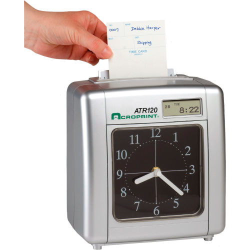 Electronic Payroll Time Clock With Time Display by