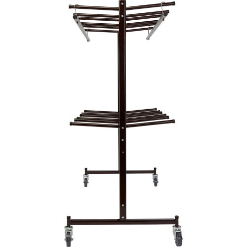 Coat Luggage Racks Coat Racks Freestanding Double Tier Hanging Chair Coat Truck Holds 84 Chairs Or 60 70 Coats B678988 Globalindustrial Com