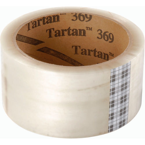"3M Tartan 369 Carton Sealing Tape 2"" x 110 Yds. 1.6 Mil Clear Package Count 36 by"
