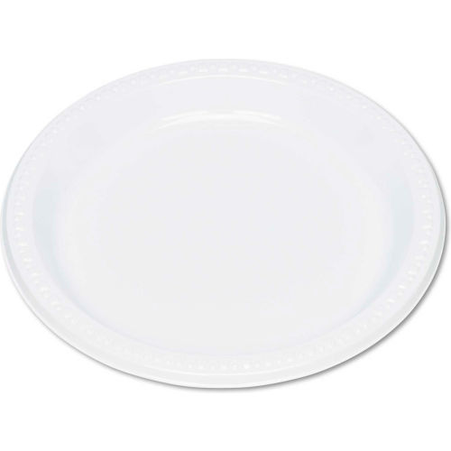 """Tablemate TBL9644WH, Plastic Plates, 9"""" Dia., White, 125/Pack by"""