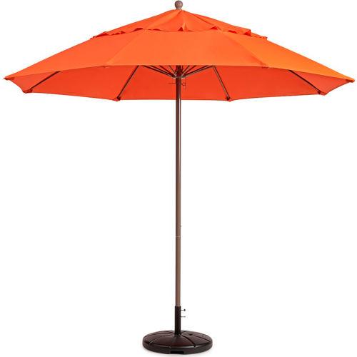 Grosfillex 7.5' Outdoor Umbrella Orange Windmaster Series by