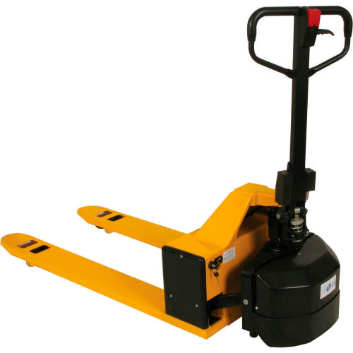 Wesco Semi-Electric Pallet Jack Truck 273286 27x48 Forks 2200 Lb. Capacity by