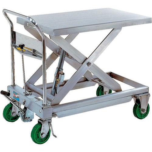 Vestil Stainless Steel Mobile Scissor Lift Table CART-1100-SS 1100 Lb. Capacity by