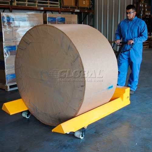 Vestil Roll Moving Pallet Jack Truck PM4-4548-RL 45 x 48 Forks 4000 Lb. Capacity by