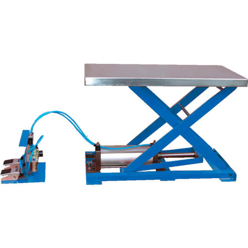 Vestil Light-Duty Pneumatic Scissor Lift Table AT-10 200 Lb. Capacity by