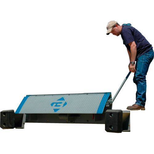 In 15Sb8460 Bluff Mfg. Pallet Trucks-14 /%: 7 In Hgt Diff Forklifts 19/%: 9 Pounds Hgt Diff Weight 15,000 Pound Capacity Easy To Use Dock Boards : 84 X 60 In W X L Etu-8460-15 : 686