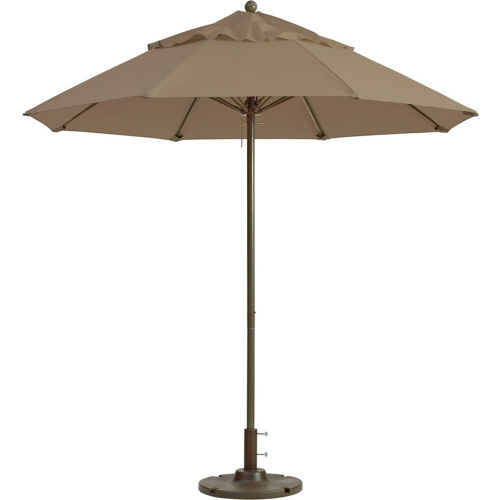 Grosfillex 9' Outdoor Umbrella Taupe Windmaster Series by
