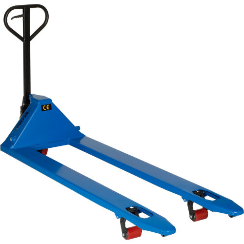 Click here to buy Premium Extra-Long Fork Pallet Jack Truck 27 x 70 4400 Lb. Capacity.