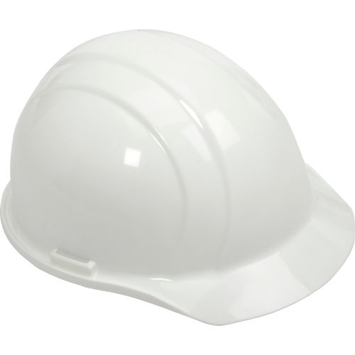 Click here to buy ERB 19761 Americana Hardhat, 4-Point Pinlock Suspension, White.