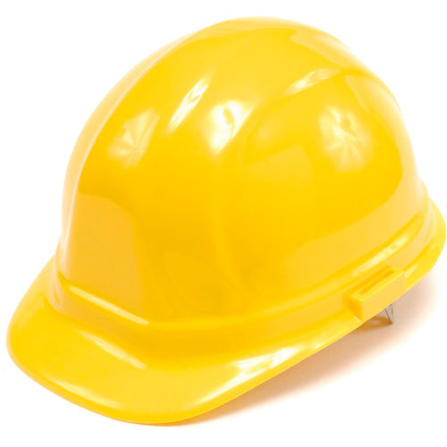 ERB 19952 Omega II Hardhat, 6-Point Ratchet Suspension, Yellow by