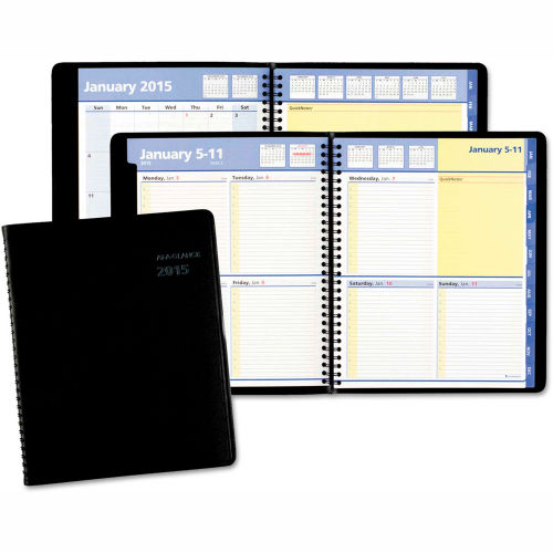 AT-A-GLANCE QuickNotes Weekly/Monthly Appointment Book, 8 x 9 7/8, Black, 2019 by