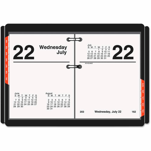 AT-A-GLANCE Compact Desk Calendar Refill, 3 x 3 3/4, White, 2019 by