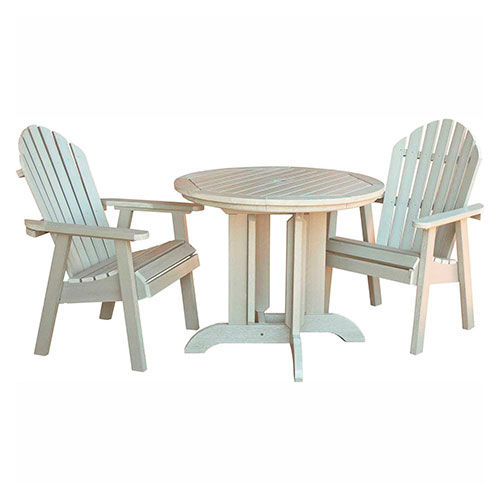 Outdoor Furniture U0026 Equipment | Patio Furniture U0026 Sets | Highwoodu0026#174;  Hamilton 3pc Round Dining Set, Whitewash | B2173710   GlobalIndustrial.com