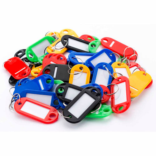 Barska 50 Assorted Key Tags AF12496 Color Coded with Window Insert by
