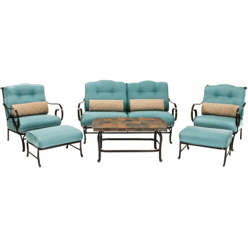 Hanover Oceana 6-Piece Outdoor Patio Set by