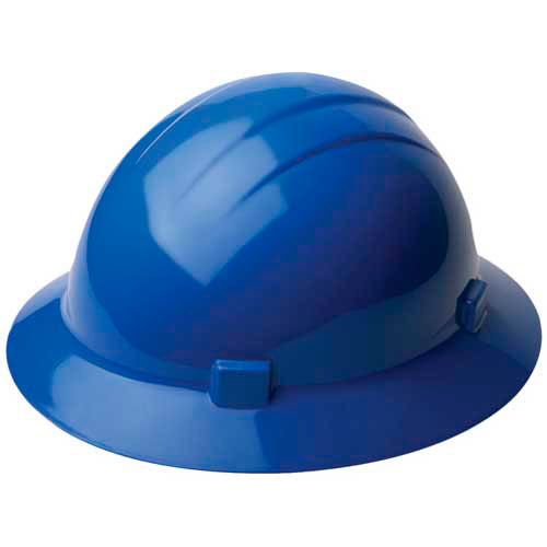 Click here to buy ERB 20006, Americana 360 Hardhat, 4-Point Ratchet Suspension Blue.