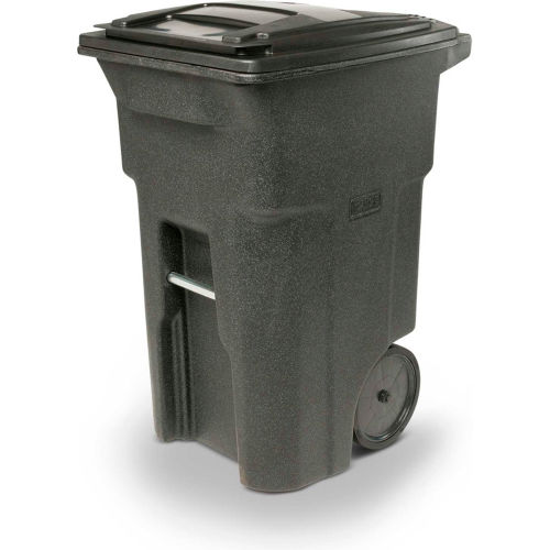 Toter 64-Gallon Brownstone Plastic Outdoor Wheeled Trash Can With Lid