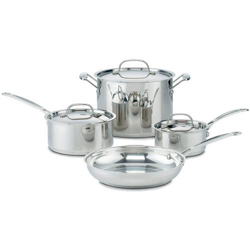 Cuisinart 7-Piece Chef's Classic Stainless Steel Cookware Set 2/CS. Price Per Ea Package... by