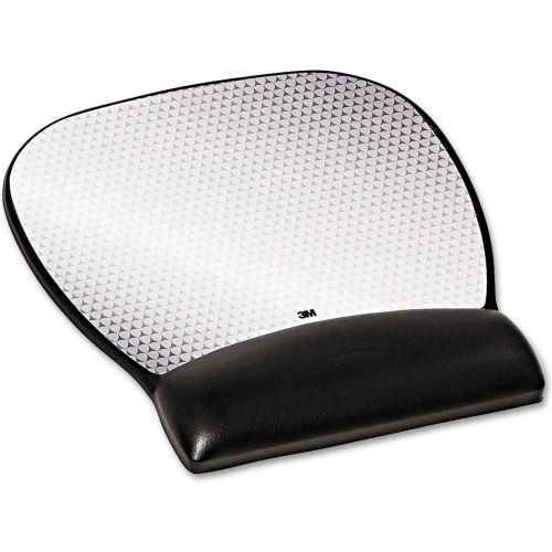 3M MW310LE Precise Mouse Pad with Gel Wrist Rest, Black by