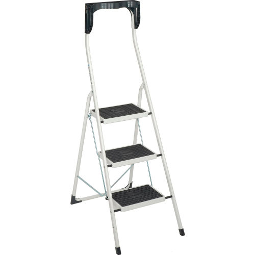 Admirable Ladders Steel Step Ladders Hailo Safety Plus 3 Step Machost Co Dining Chair Design Ideas Machostcouk
