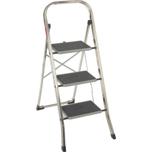 Enjoyable Ladders Aluminum Step Ladders Hailo K30 3 Step Aluminum Theyellowbook Wood Chair Design Ideas Theyellowbookinfo
