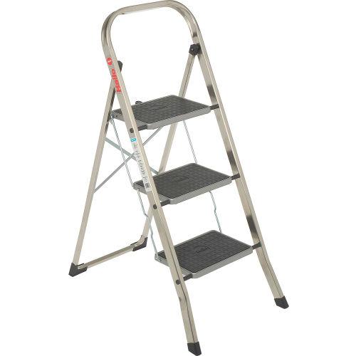 Sensational Ladders Aluminum Step Ladders Hailo K30 3 Step Aluminum Theyellowbook Wood Chair Design Ideas Theyellowbookinfo