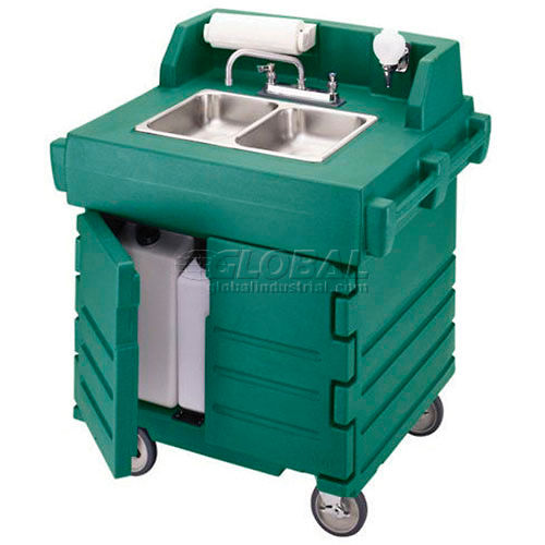 Cambro KSC402519 Camkiosk Hand Sink Cart, Green by