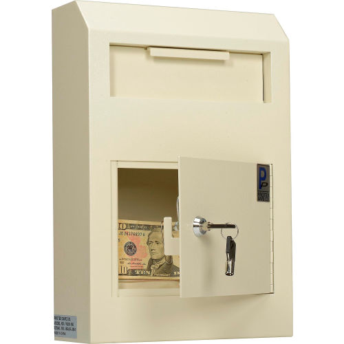 Drop Box Safe Wall-Mount Locking Bulky Item Secure Cash Key Mailbox Receiver New