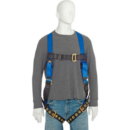 FALLTECH 7015 UNIVERSAL SIZE SAFETY HARNESS FULL BODY FALL PROTECTION D-RING