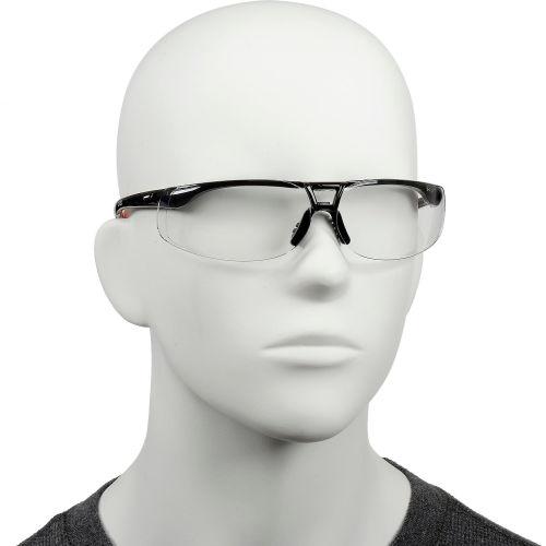 Uvex S4200HS Protege Safety Glasses, Black Frame, Clear HS Lens by